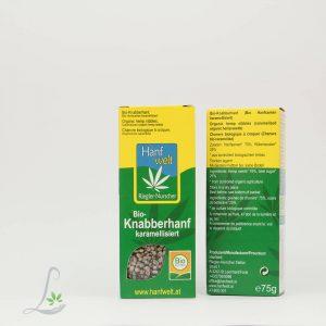 Bio Knabberhanf Karamellisiert 75 g Hanfwelt