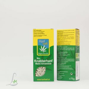 Bio Knabberhanf Weisse Schokolade 75 g